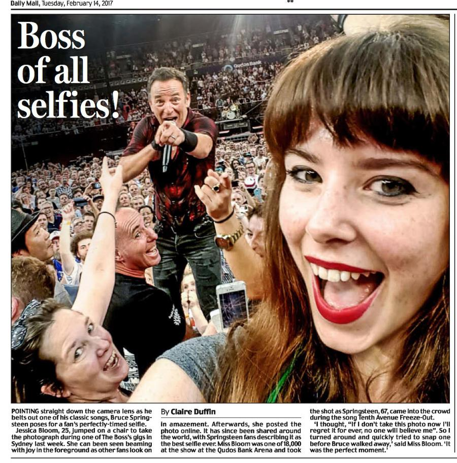 Ultimate Springsteen Selfie