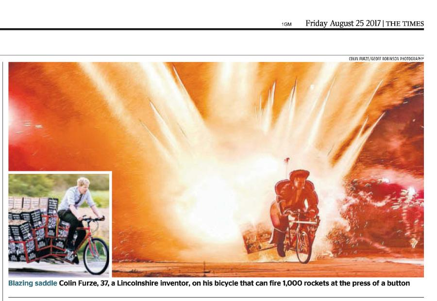 Bike Which Launches 1000 Rockets