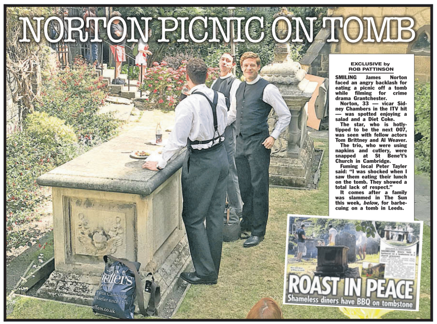 James Norton Picnic on Tomb