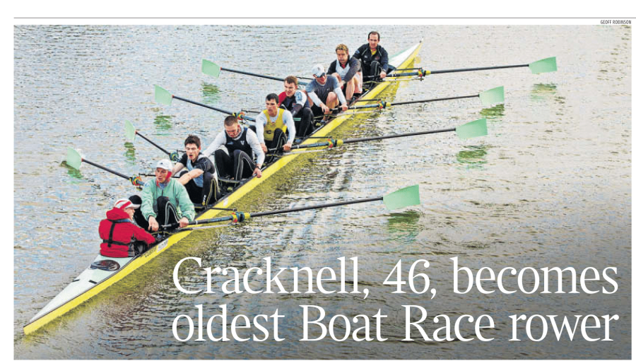 James Cracknell Oldest Rower in Boat Race