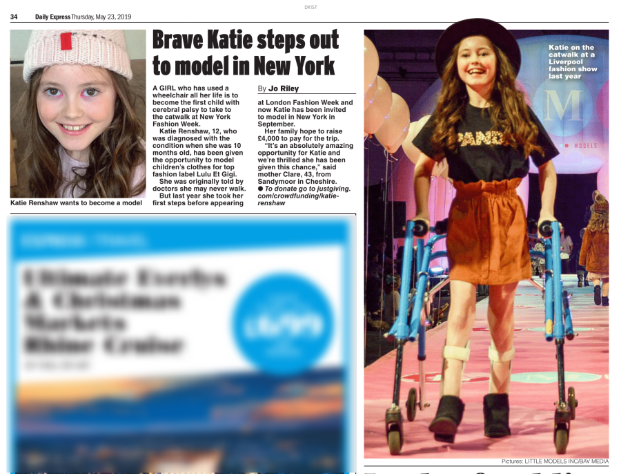 Brave Katie To Model In New York