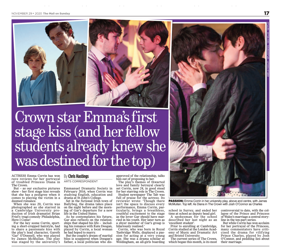 Crown Star Emma's First Stage Kiss