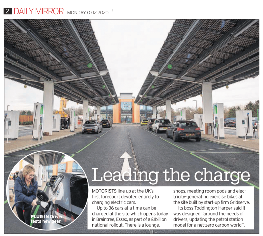 First Electric Forecourt Opens