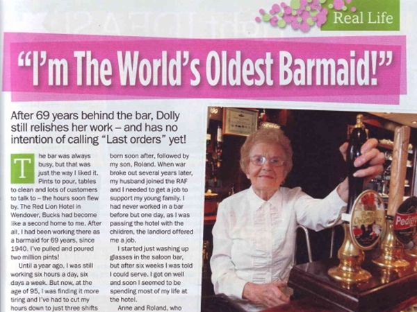 I'm the World's Oldest Barmaid