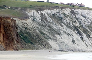 Culver Cliff where the incident happened